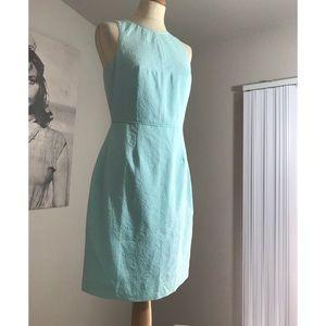 J. Crew nwot cotton formal dress  mint green blue